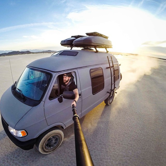 Photo of the Day! @TravisBurkePhotography setting off on a one year adventure in his custom van.