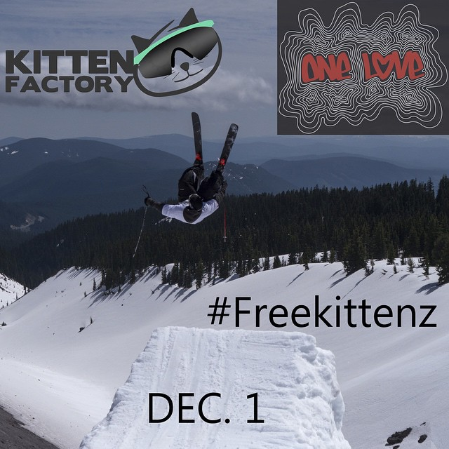 University of Utah One Love members!!!!! #freekittenz on all of your dopest skiing pics for a chance to win special edition Kitten Factory x One Love Carbon Pows!!! @uofuonelove #kittenfactory #freeskis