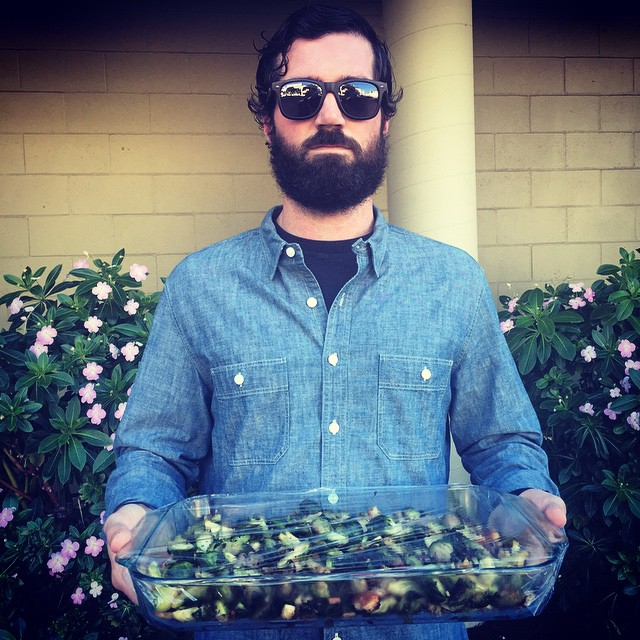 .@mcelberts says eat your Brussels sprouts and #HappyThanksgiving #lumbersexual #lumbersexualsays #sanfrancisco #SFuniform #denimondenim