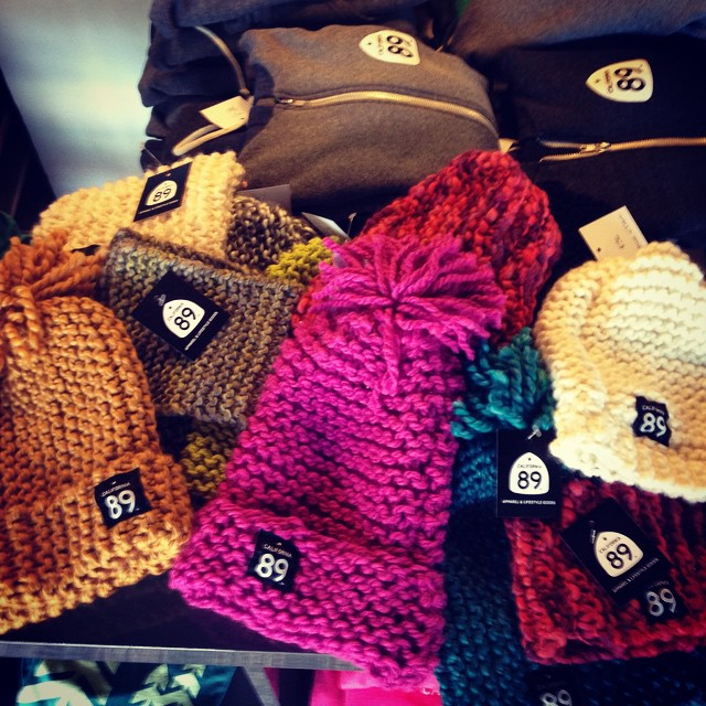 Made in Tahoe CA89 knit beanies!