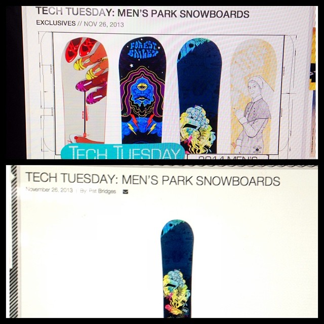 Tech Tuesday on snowboarder.com is featuring our Superpark board today- big thanks to the guys @Snowboardermagazine the magazine this year looks great! #forridersbyriders #handmadelaketahoe
