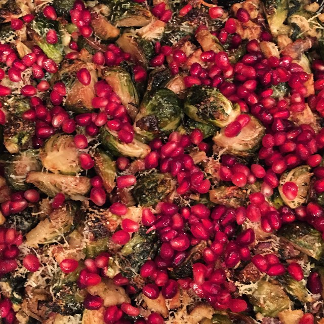 My festive side came out in concocting my thanksgiving dish #brusselsprouts #thanksgiving #gratitude #yum #lategram #imadethehealthydish