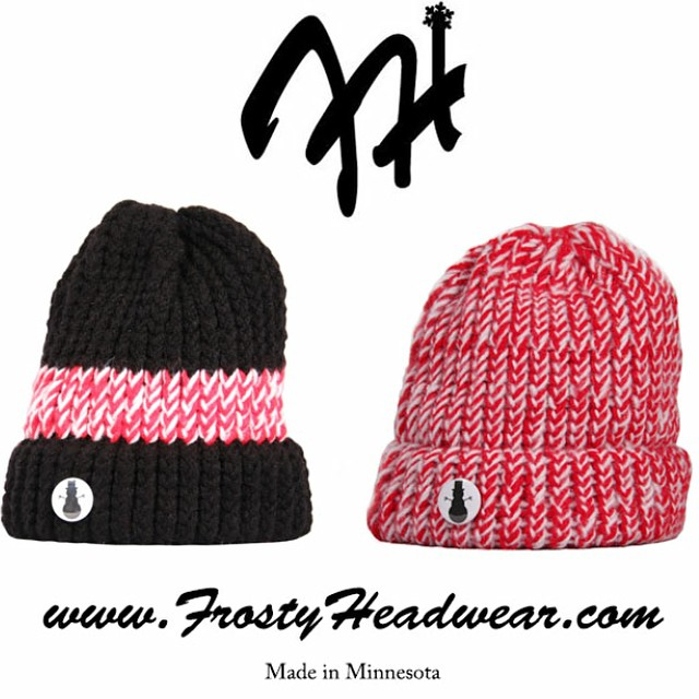 #FrostyFridays Series 9 is a limited release presenting 2- 1 of 10 collections. Once all 20 hats have sold out they will expire from www.frostyheadwear.com⛄️All knitted hats being released this Fall/Winter are #MadeinMinnesota #FrostyHeadwear...