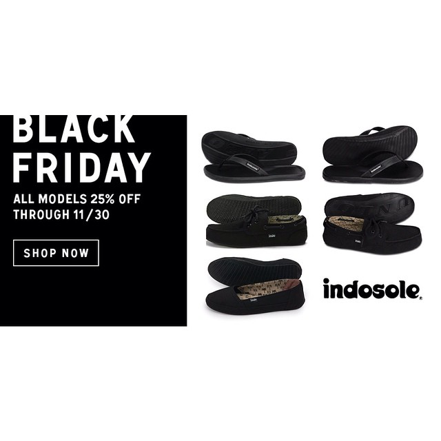 Black Friday Sale // 25% OFF everything at www.indosole.com through 11/30