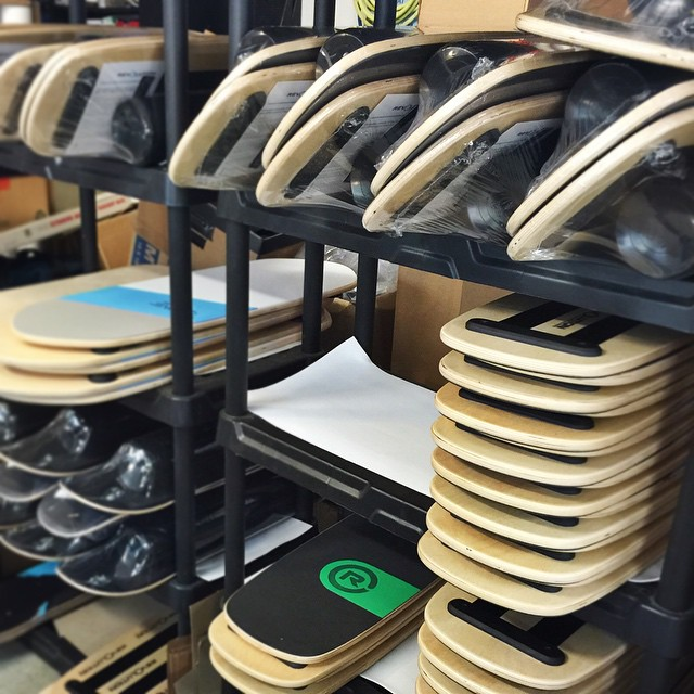 Black Friday update #1, board wrapping and packing is in full progress. Thanks so much for the support! #blackfriday #madeintheusa #balanceboard