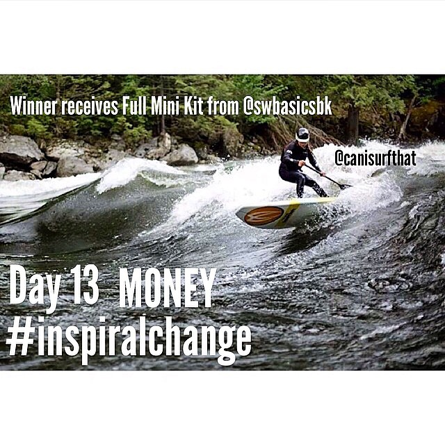 Aloha!! Today is day 13 of the ‪#‎inspiralchange‬ challenge! Today we're talking about MONEY!  Last year my good friends @bp_sups @gnardia and @ladyadventcha didn't let money stop them from pursuing a dream. They reached out through a kickstarter...