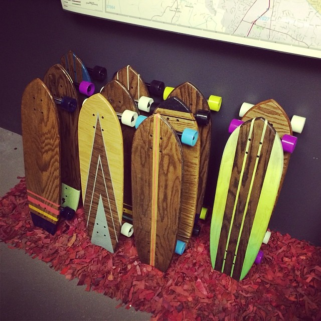 Here's the inventory overflow into another office. So many unique and beautiful boards.