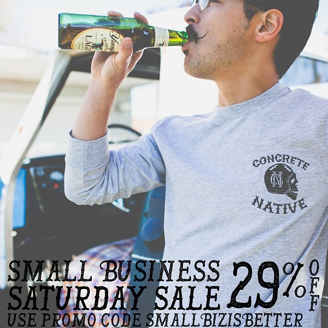 Remember our #smallbizsaturday sale is going on right now at concretenative.com! Head there through tomorrow to get 29% off everything with promo code SmallBizIsBetter. #smallbiz #smallbusiness #sk8life #skatelife #deals #cooldudes
