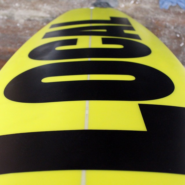 For when you want to be noticed. #surfboard #yellow #coldwatersurf @bostonsurf_chinosurfboards