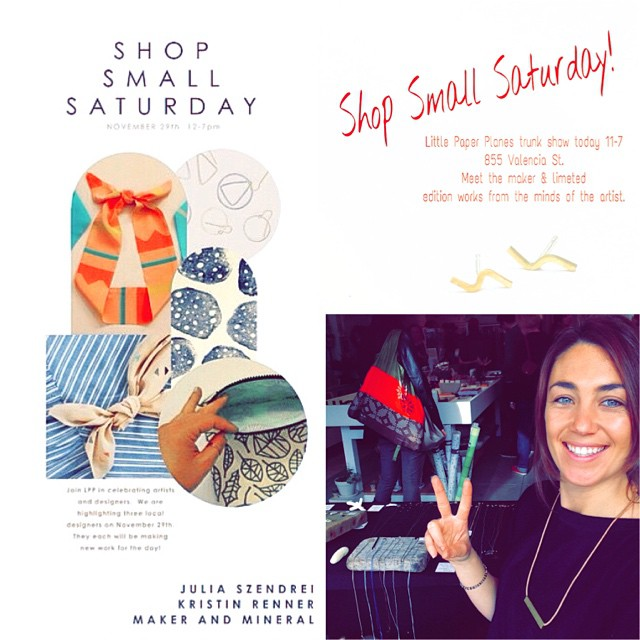 Since it's raining and theres really not much to do today head over and check out @jszendrei for some really great one of a kind jewelry. Today from 11-7pm at Little Paper Planes 865 Valencia St in the Mission. Every piece is handmade right here in...