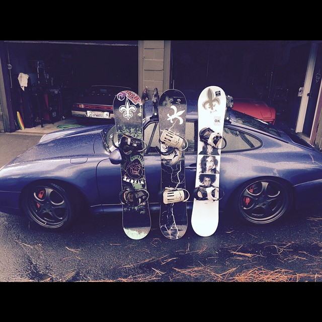 @p8aplay is getting ready for winter- he likes his boards to perform like his cars! Thanks for being #G #forridersbyriders #HandMadeLakeTahoe #OK #SuperparkLTD