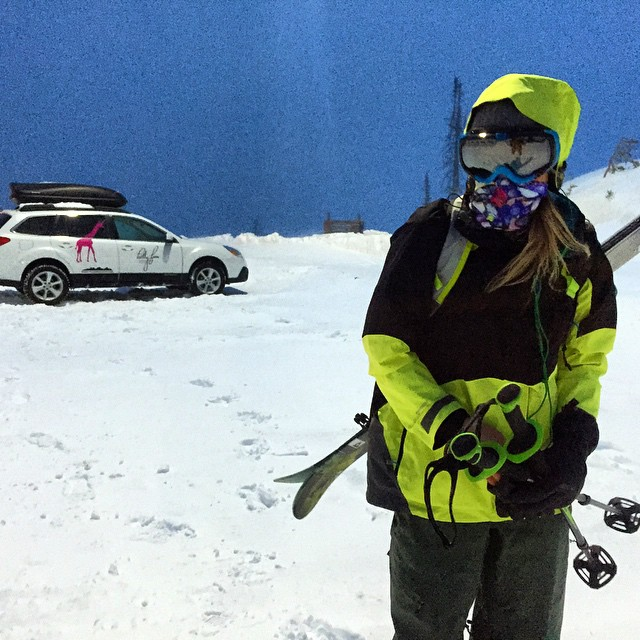 @lynseydyer rocking the Riverman Tshield on an early season mission to ski Teton Pass. Blackfriday sale going on now at www.avalon7.co use the code #winteriscoming for 20% off! #avalon7 #skiing #facemasks