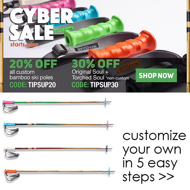 Don't miss the last sale of the holidays on Soul Poles' custom, original, and torched #SkiPoles and #HikingPoles -> www.soulpoles.com