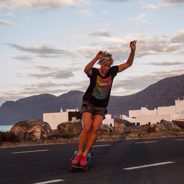 Esther Suave shot by Pablo Paxi. Who else loves manuals?  #longboardgirlscrew #girlswhoshred #esthersuave