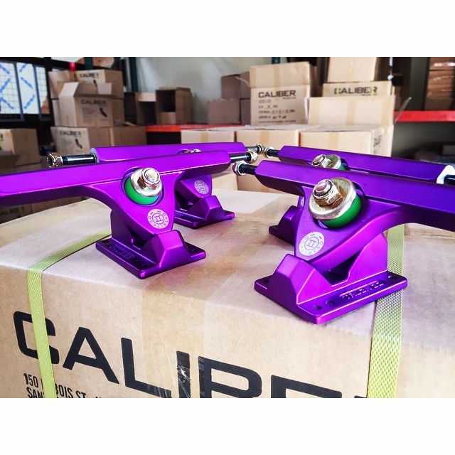 If you haven't picked up a set of our new #purplesatin trucks, hit up your favorite retailer! The new color way is guaranteed to make any setup look sick! #calibertrucks