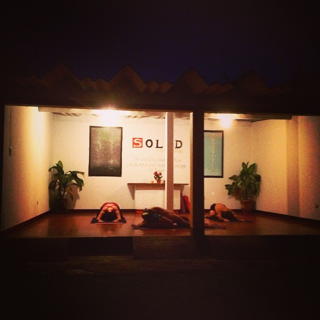 Evening yoga at SOLID!