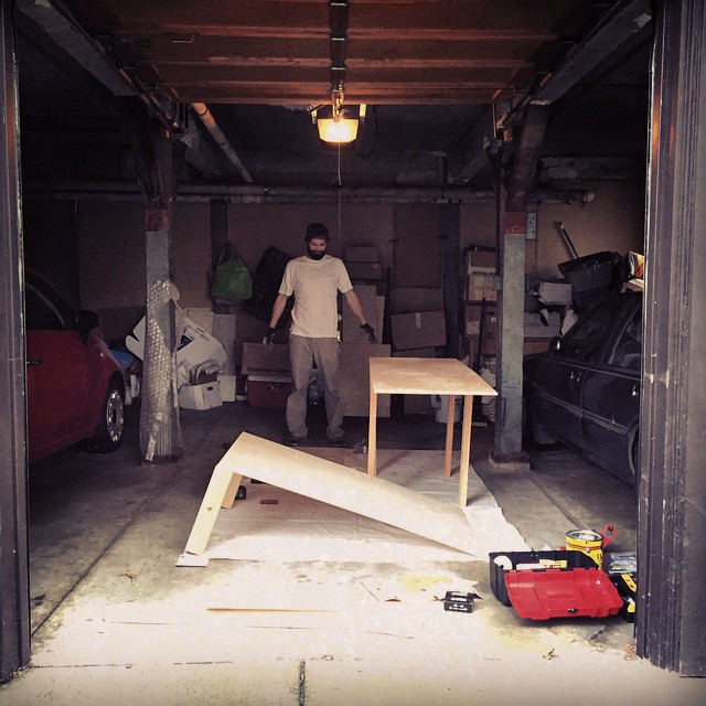 DIY Sunday - pimping out the loft bed with shelves for the snowboards and golf clubs #mancave #rainydayactivities #DIY #homemade #Woodworking #gear #gearloft #sundayfunday