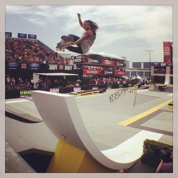 @DavidGonzalez en la Street League Skateboarding #globe #streetleague