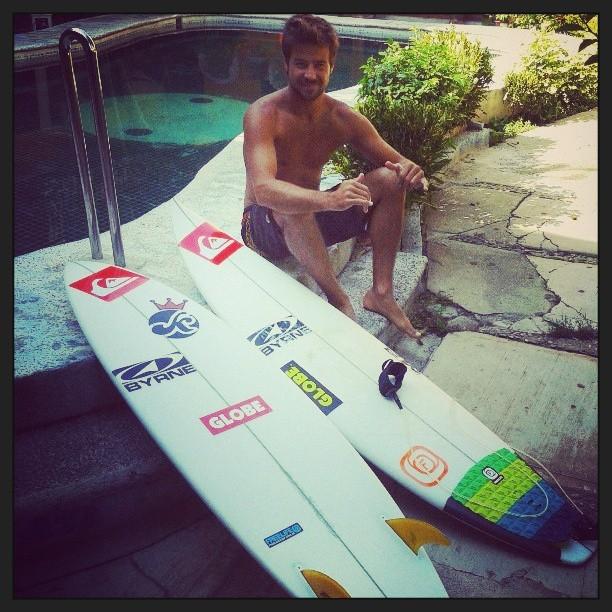 Una de @lucassantamaria listo para la competencia Surf Open Acapulco, evento 4 estrellas del ASP! vamos Lucón!