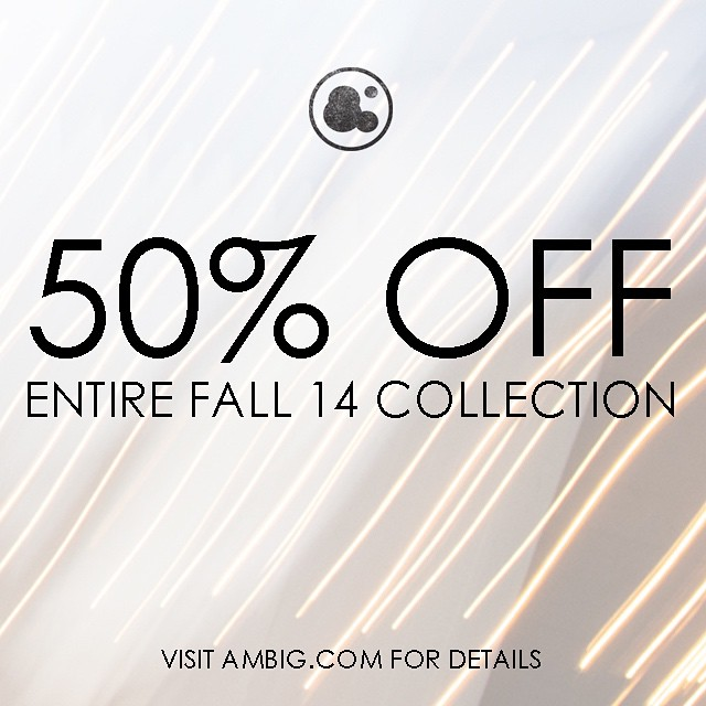 Check out AMBIG.COM for our cyber Monday deals! 50% off entire Fall collection and free shipping on all orders over $50 #ambigclothing #cybermonday