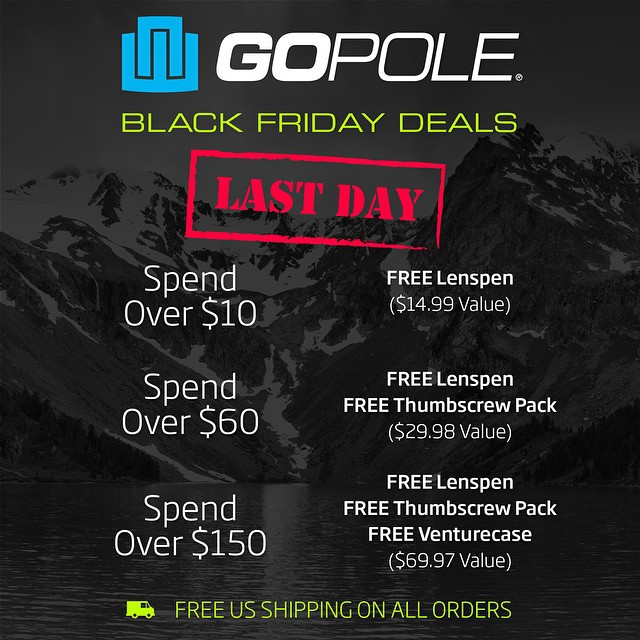 Our once a year Black Friday/Cyber Monday sale ends today! Shop now at GoPole.com #gopole
