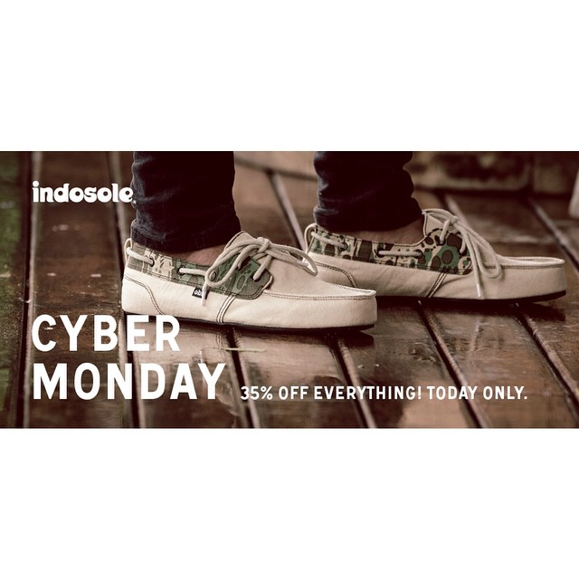 It's Cyber Monday! 35% OFF everything at www.indosole.com today only