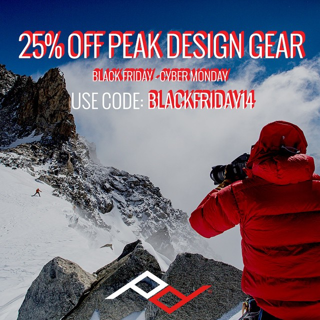 Last day of our sale! 25% of just about everything at peakdesign.com. #Slide camera strap, shown here holding @alpine_photo's @phaseonephoto  camera, is $5 off. Kamil is shooting pro climber @lumitoma.