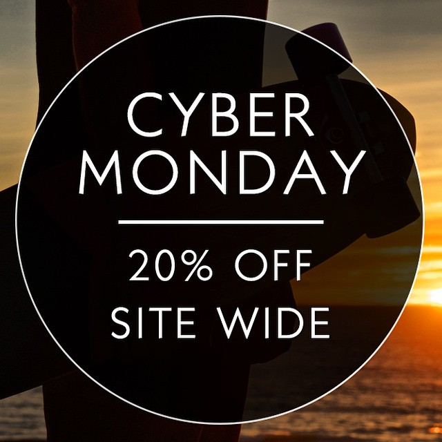 LAST CHANCE to get 20% off your entire order! Head over to our website before midnight to catch our Cyber Monday sale. #naturallogskateboards #cybermonday #smallbusiness #handcrafted #cruiser #skateboards made from #sustainable #bamboo