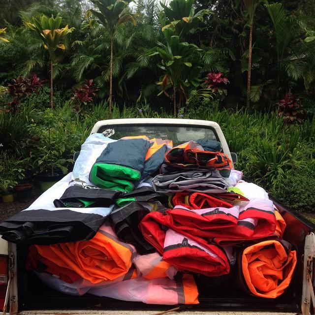 Maui does not need #filter. Monday pick up ! #sailsforchange #repurpose #recycle #kiteboarding #maui #hawaii