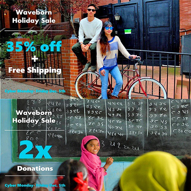 "Happy holidays folks! Are you ready for 5 days of giving and saving?  You can save up to $80 off a new pair of shades + FREE shipping, AND we 2x your donations, from now until December 5th!  Make sure you use promo code ""holiday2014"" at checkout to..."