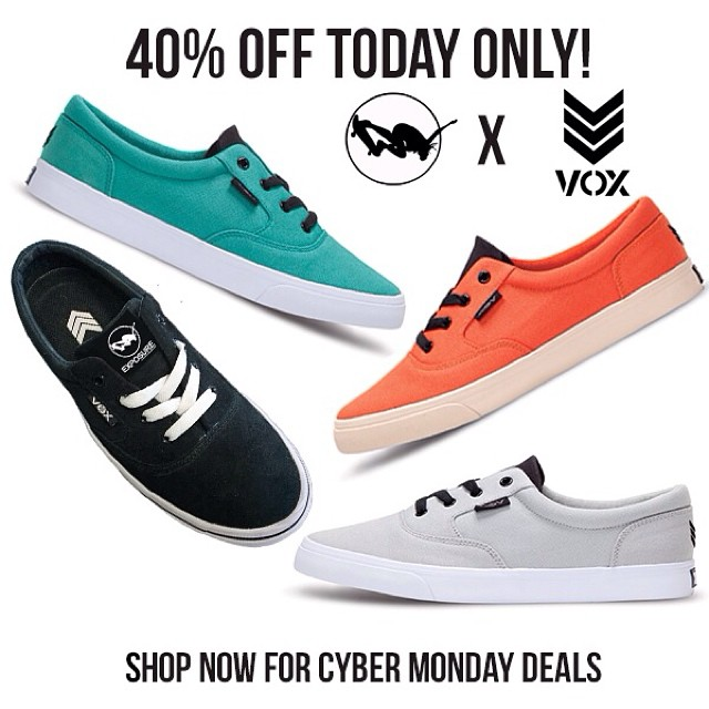 Want your Christmas Shopping $ to also support a good cause? Click the link in our bio to get a pair of our EXPOSURE @voxskateboarding collab shoes for 40% off today only. #shoesforacause #empoweringwomen #mindfulshopping #exposure2014