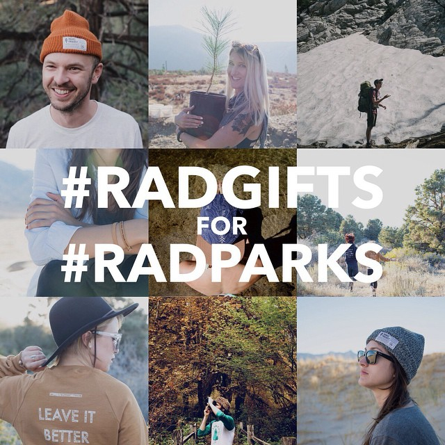 To kick off the holiday season, we've asked our friends and family to curate a #radgifts guide just for you! We'll be featuring hand-picked goods for the next two weeks, so stay tuned. Shop @parksproject to promote, protect and preserve our favorite...