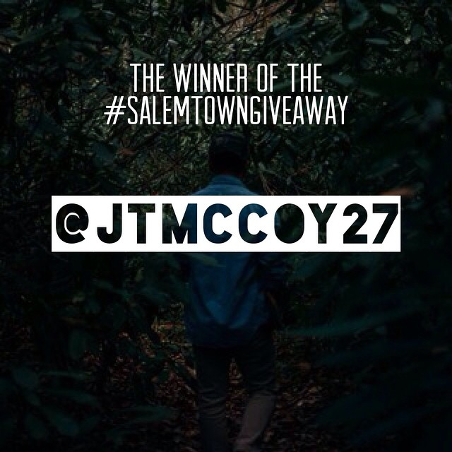 Congrats to @jtmccoy27 on winning the #salemtowngiveaway