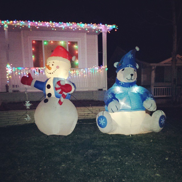 Merry holidays from the neighbors. #winning #wasteofenergy #frosty