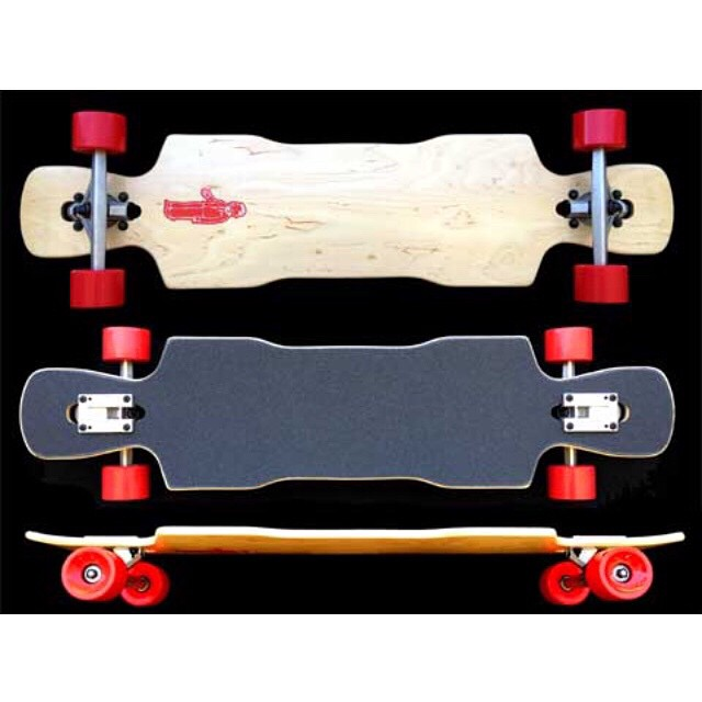 We managed to rustle up a few more decks from #churchillmfg and we will have them up soon. For now here is the #Kray lite #longboard #skateboard #funboxskateboards #angel #Kray #suzie #topmounts #dropthrough #freeride #cali #downhill #thanelines...