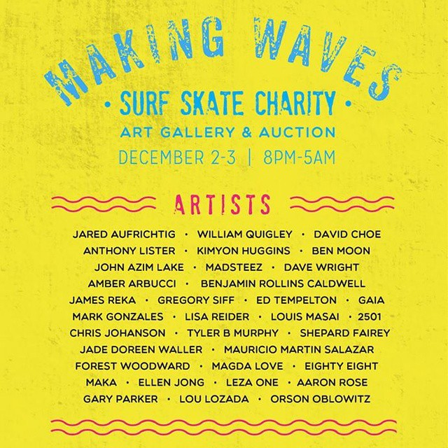 This #GivingTuesday please support WAVES! Thank you to all the artists, galleries, businesses and surfers who are making this happen TODAY. Special shout outs to @expressions_aufrichtig and @gsi_surf
