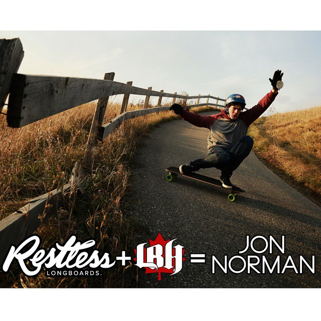 @nonjorman has been riding a #restlessboards for a while, and now he is officially on the team! We are proud to sponsor and support amazing riders like him, welcome to the team! Jon also rides for @longboard_haven in Toronto!