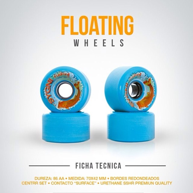 Floating wheels 86a #longboard #skate #wheels #downhill