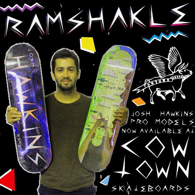 AZ killer @josh_hawkins pro models are now available at @cowtownskate so go grab a board and #getshakled