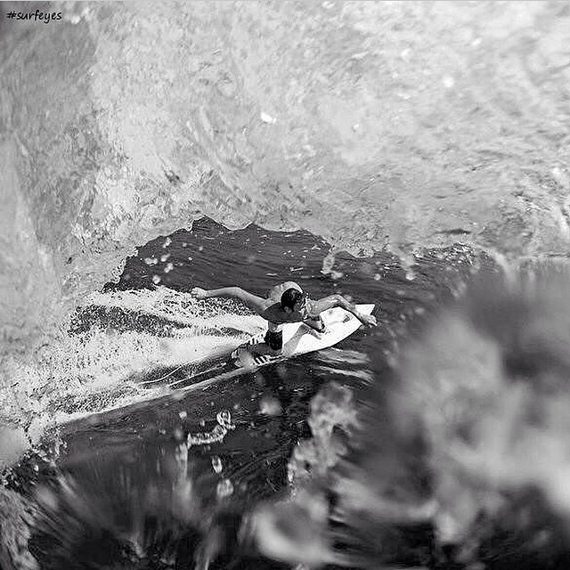 Check out this radical pic of @ian.walsh as he navigates his way under the lip.