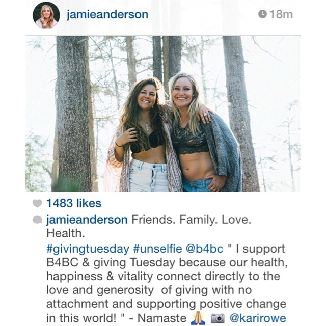 Here's some #GivingTuesday #inspo from #TeamB4BC rider @jamieanderson!  Why do you support B4BC? Share your #unselfie today!