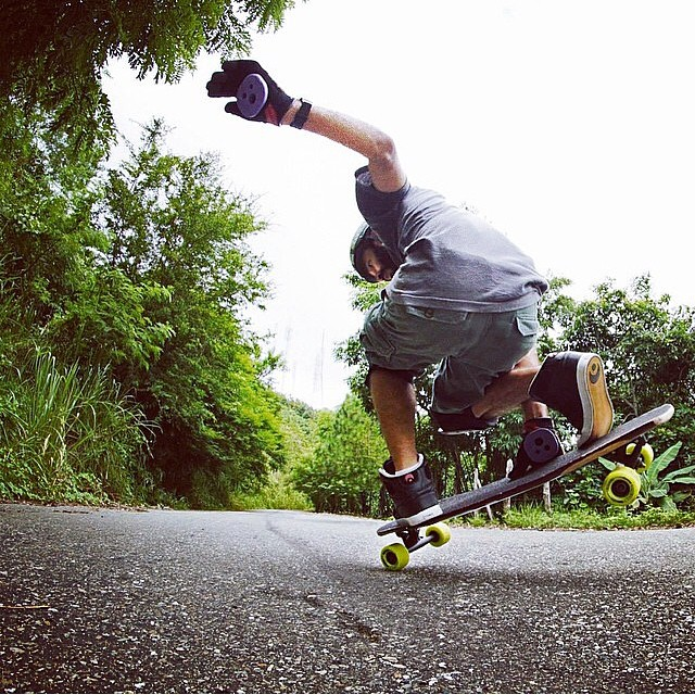 @miguelcabreja being Miguel ... Nuff said // pic @cathykat09 #keepitholesom #sk8sessions #delpatiolongboarding