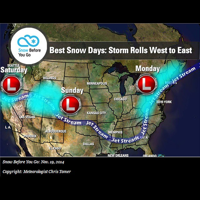 Looking to get on some snow this weekend?  You are in luck!  Check out the map below and go to onthesnow.com for a more detailed report!  #onthesnow #workfortheweekend #shredsesh #powder  #chase