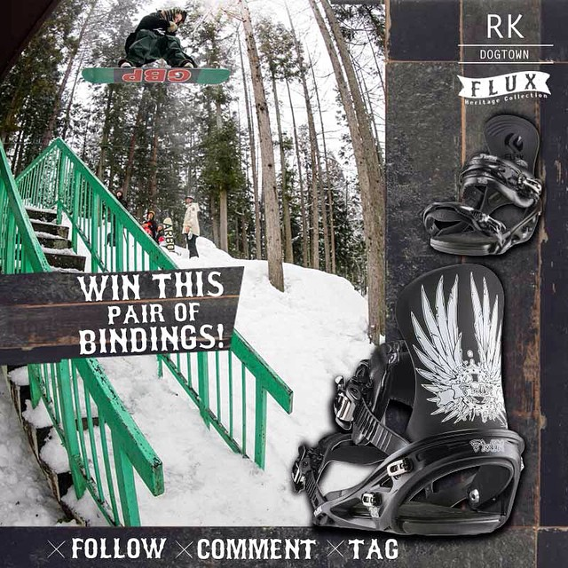 WIN FLUX! Flux Bindings is giving away this set of RK Dogtown Bindings from the new Heritage Collection! To Enter: FOLLOW our gram feed, make a COMMENT on this post and TAG three of your friends in your comment. @snowboardermag followers enter here!...