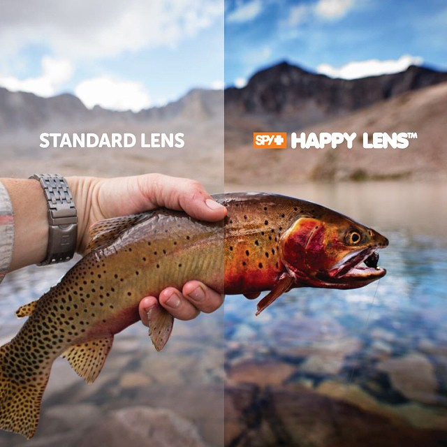 Have you tried the #HappyLens™ while #fishing?  SPY's Happy Lens offers superior #color and contrast enhancement that helps you #SeeFishBetter, providing unrivaled performance in any type of fishing conditions when paired with our polarized Spectra™...