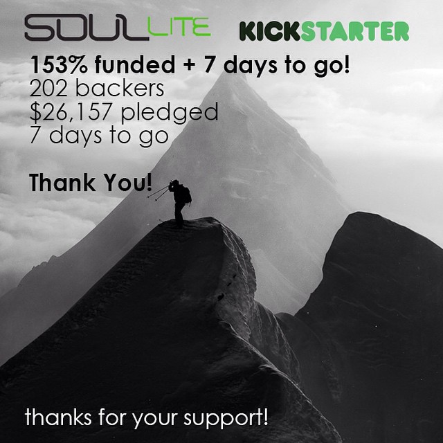 One week remains in our @Kickstarter.  Help us take the #SoulLiteProject international by sharing with friends and family and pledging via the link in our bio // #plantyoursoul
