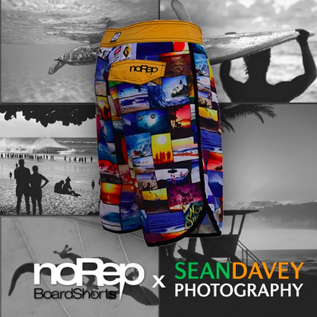 "Stoked to announce that our noRep x Sean Davey Photography boardshorts are available for purchase! We're calling this pair the ""North Shore Collection"" and it features the amazing work of @sean_davey, whose photos have been featured on over 140..."