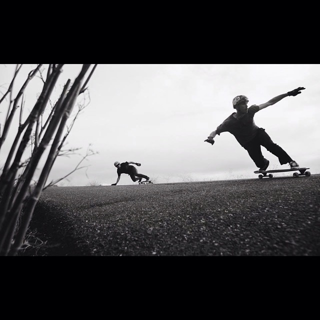 @radzani and @liam_lbdr_ getting loose and staying up during late Fall 2013... PC: @davemarano #calibertrucks #doibledutchbustour