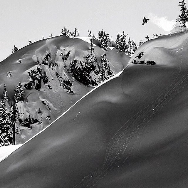 #regram from @chrisrasman gapping big in the Canadian backcountry.