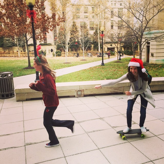 Reindeer pulling the raddest sleigh on the streets! #netstogifts #BureoHolidayAlbum @cathystrini
